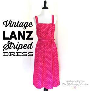 Vintage Lanz Striped Dress